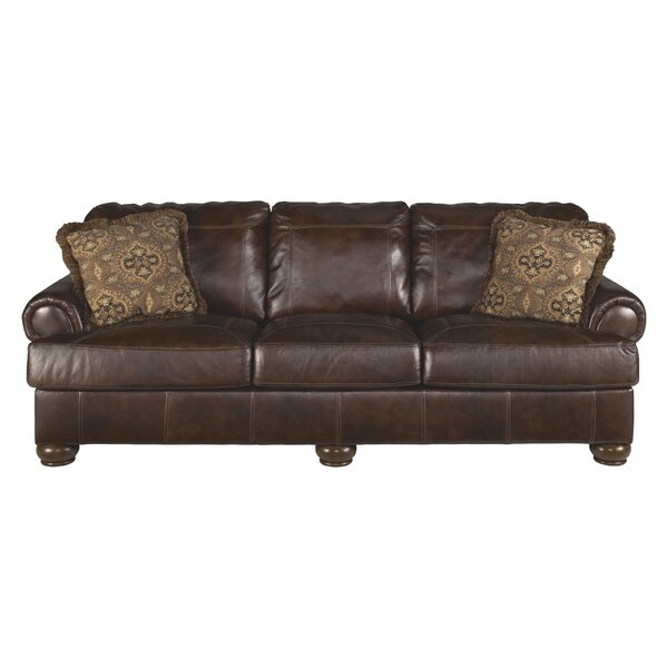 Bannister Leather Sofa by Darby Home Co