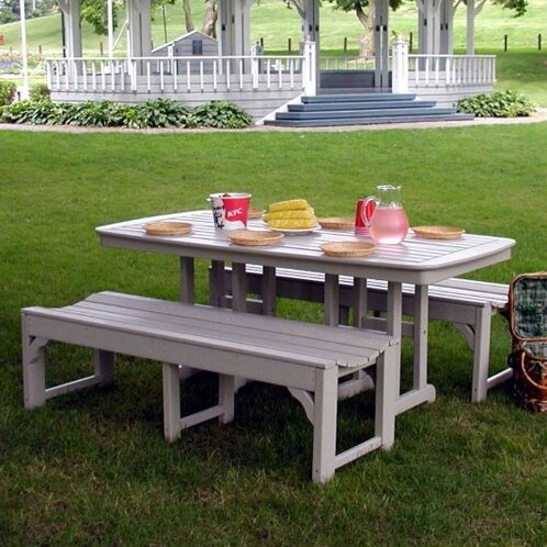 Traditional 3 Piece Dining Set by POLYWOOD®