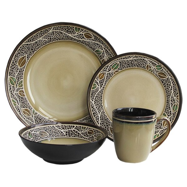 Emilie 16-Piece Dinnerware Set, Service for 4 by Design Guild
