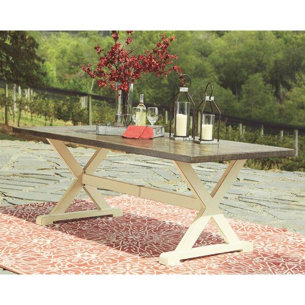 Farzana Aluminum Dining Table by Gracie Oaks