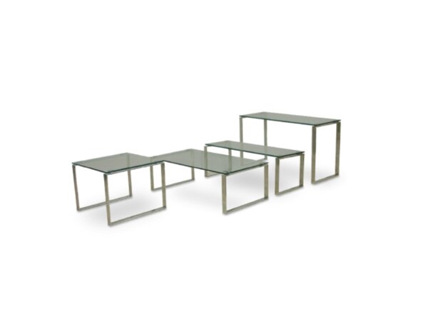 Calvin Glass Console Sofa Table By SohoConcept