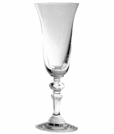 Sammy Crystal Champagne Glass 5 oz. Wine Glass (Set of 6) by Charlton Home