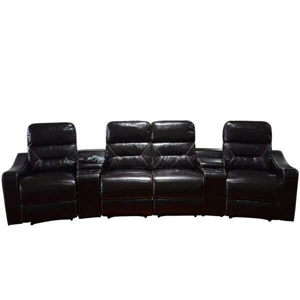 Leather Home Theater Recliner (Row of 4) by Ebern Designs
