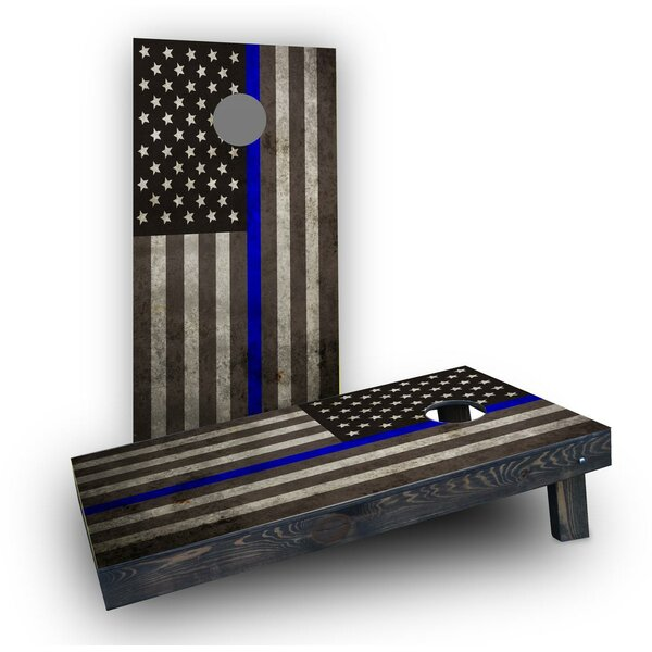 American Thin Blue Line Cornhole Boards (Set of 2) by Custom Cornhole Boards