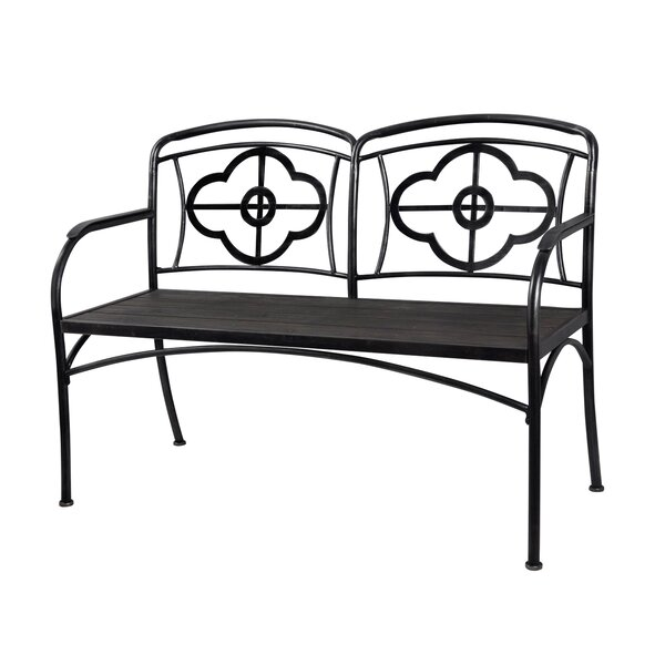 Phifer Clover Outdoor Metal Garden Bench by Gracie Oaks