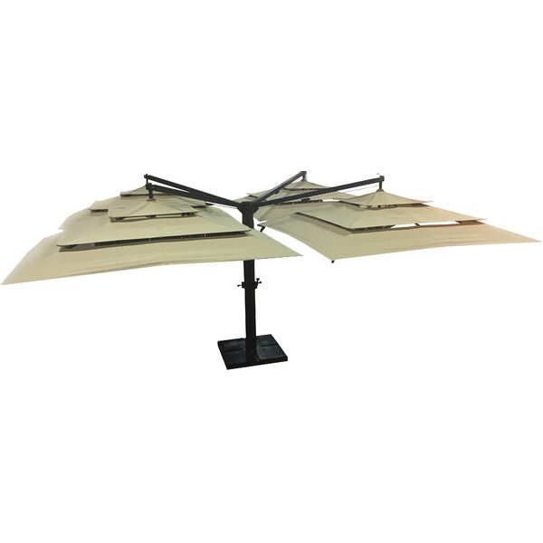 Quad Rectangular Cantilever Sunbrella Umbrella by Feruci