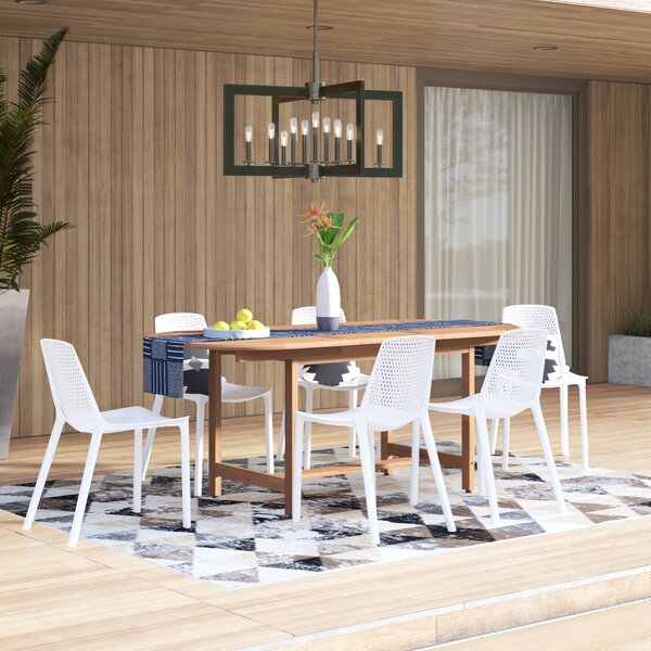 Claudio 7 Piece Teak Dining Set By Mercury Row