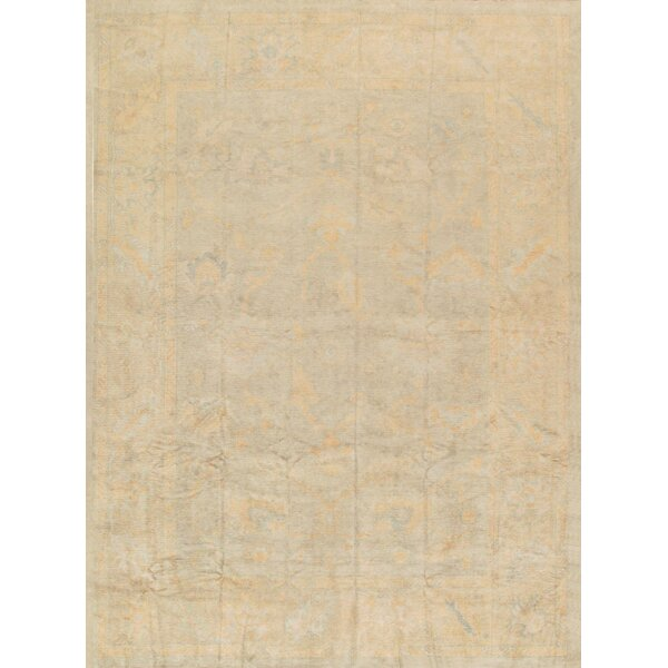 Oushak Hand-Knotted Light Blue Area Rug by Pasargad