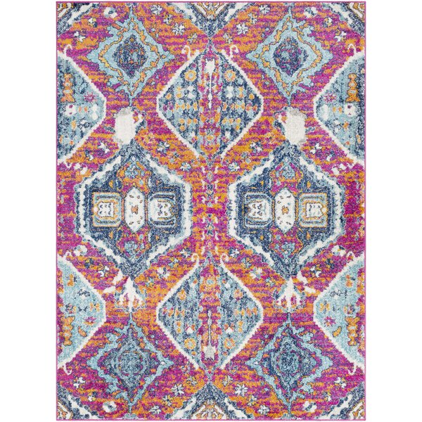 Almonte Distressed Pink/Light Blue Area Rug by Bungalow Rose