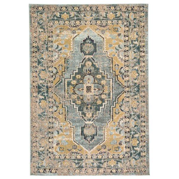Middletown Medallion Blue/Green Area Rug by Bungalow Rose