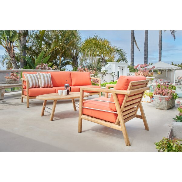 Armrong Sunbrella Seating Group with Cushions by Bayou Breeze