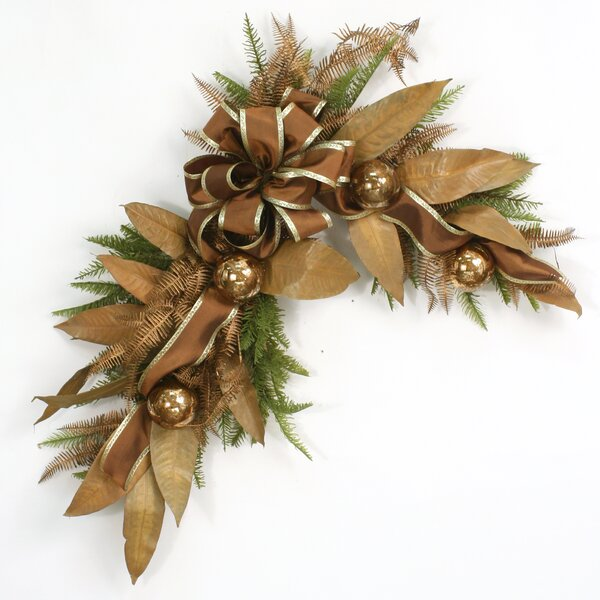 Over The Top Leaf Mirror Swag by Distinctive Designs
