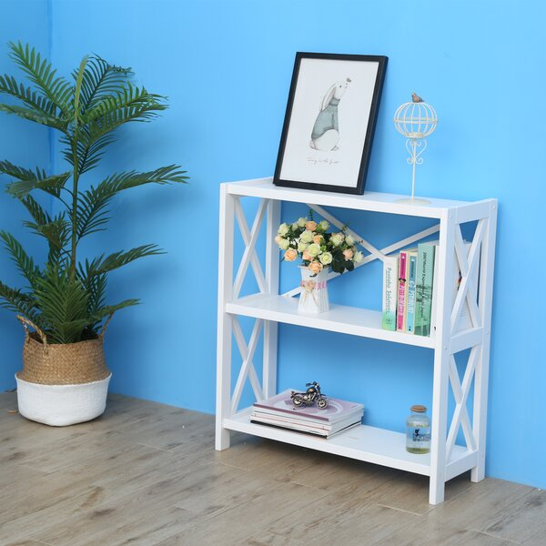Leeson Wide Etagere Bookcase By Highland Dunes