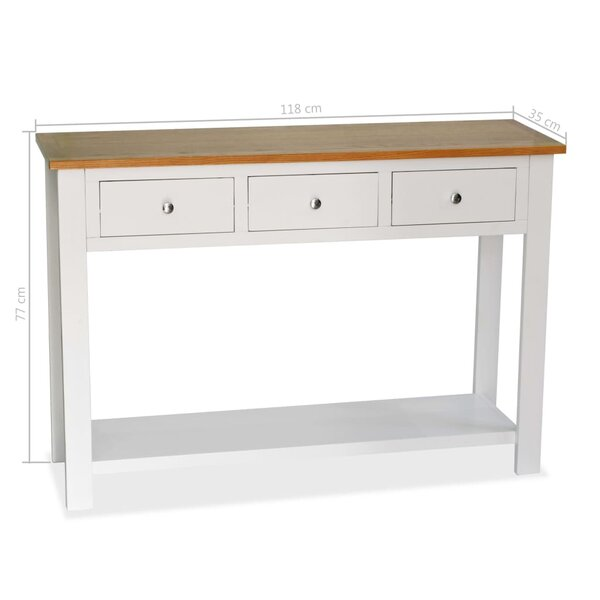 Highland Dunes White Console Tables