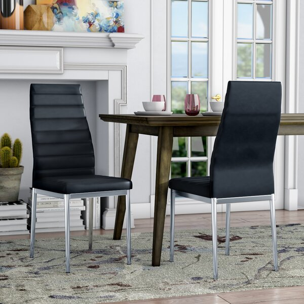 Kimbell Upholstered Side Chair In Black (Set Of 4) By Brayden Studio