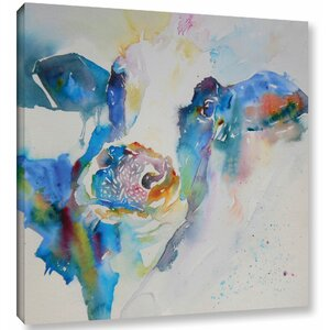 Cow 25 Painting Print on Wrapped Canvas by Latitude Run