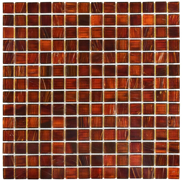 Fused 0.75 X 0.75 Glass Mosaic Tile in Red by EliteTile