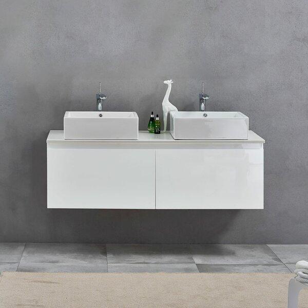 Giuliano 59  Wall-Mounted Double Bathroom Vanity Set