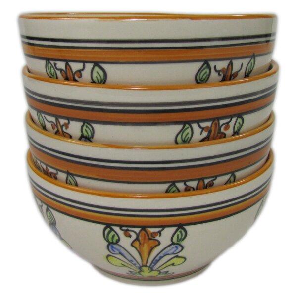 Salvena 24 oz. Stoneware Soup/Cereal Bowl (Set of 4) by Le Souk Ceramique