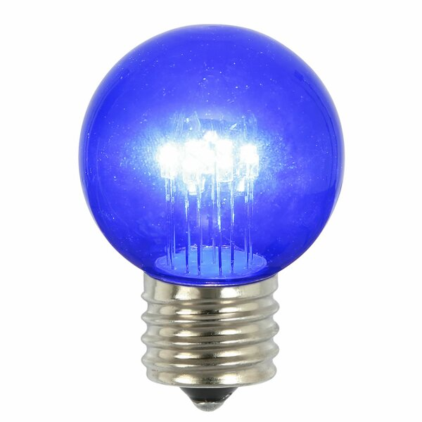 9W Blue E26 LED Light Bulb (Set of 5) by Vickerman