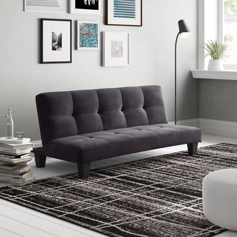 Tufted Back Convertible Sofa