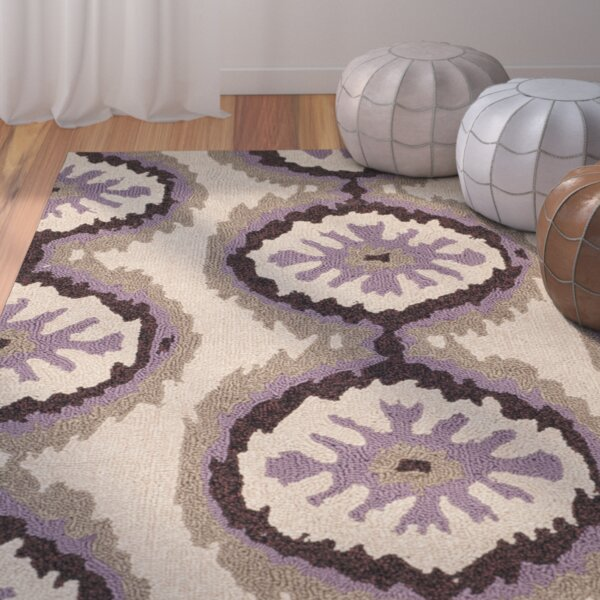 Puri Beige/Purple Outdoor Area Rug by Bungalow Rose
