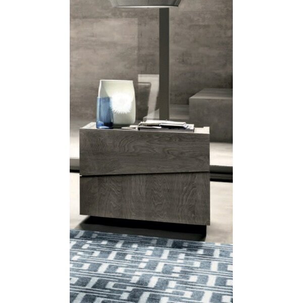 Dann Modern Style 2 Drawer Nightstand by Brayden Studio