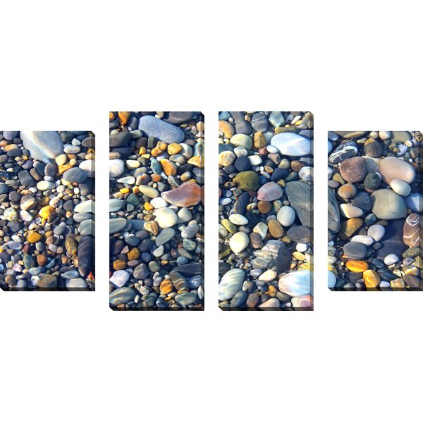 Water Stones 5 4 Piece Photographic Print on Wrapped Canvas Set by Picture Perfect International