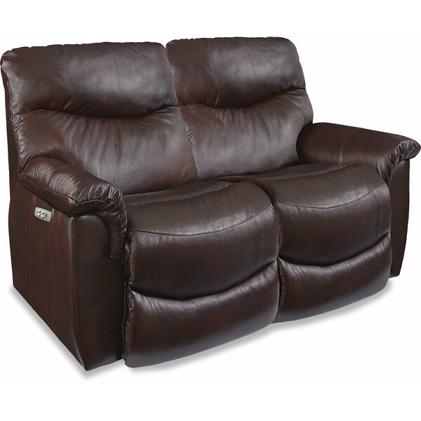 Sales-priced James LA-Z-Time Power-Recline Loveseat with Power Headrest by La-Z-Boy by La-Z-Boy
