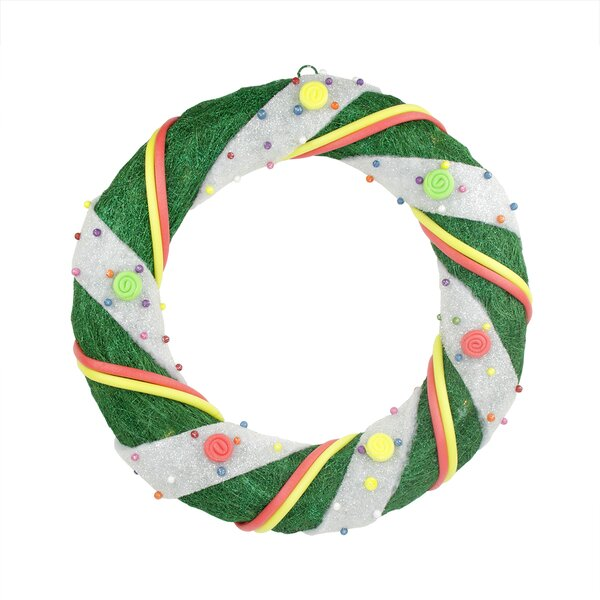 Pre-Lit Candy Sisal Artificial Christmas Wreath by Northlight Seasonal