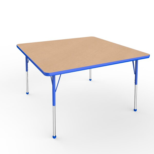 Maple Top Thermo-Fused Adjustable 48 Square Activity Table by ECR4kids