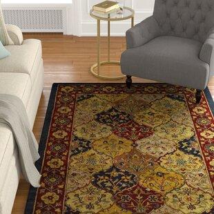 Balthrop Handmade Wool Red/Gold Area Rug by Astoria Grand