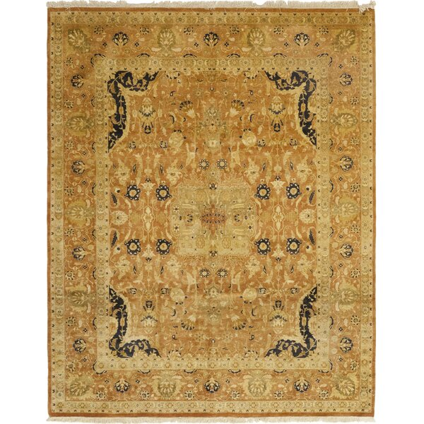 One-of-a-Kind Corrado Hand-Knotted Wool Brown Indoor Area Rug by Astoria Grand