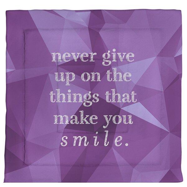 Joy & Perseverance Quote Single Reversible Comforter