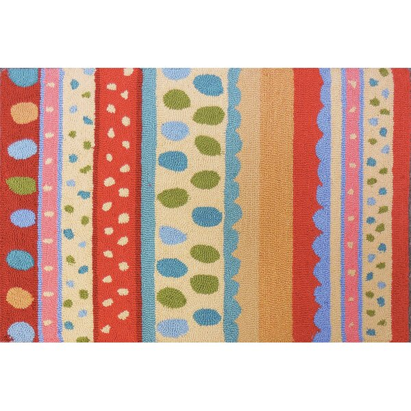Lauri Stripes and Polka Dots Area Rug by Zoomie Kids