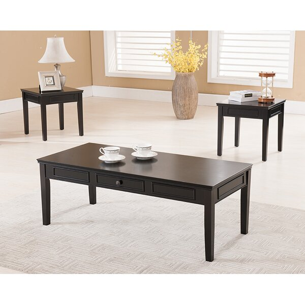 Leisha 3 Piece Coffee Table Set by Darby Home Co