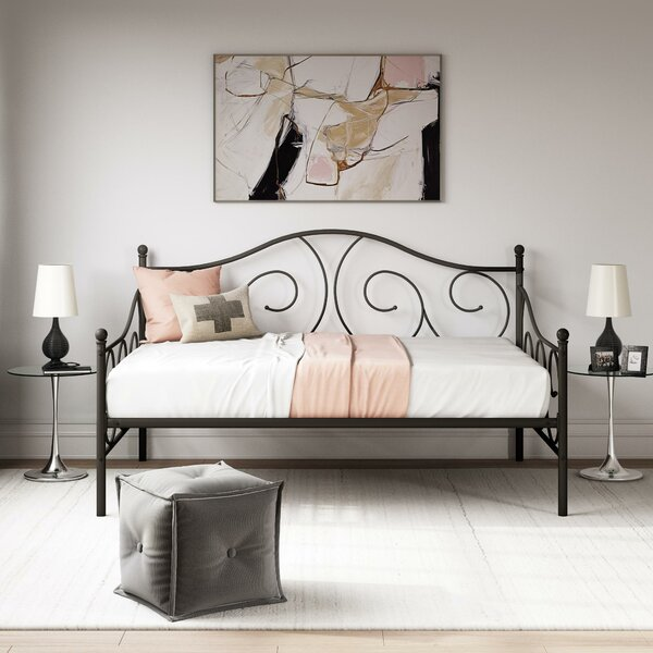 Mikayla Metal Scroll Daybed By Andover Mills