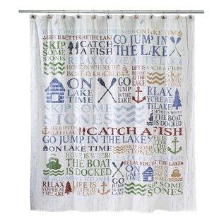 Purchase Lake Words Cotton Shower Curtain ByAvanti Linens