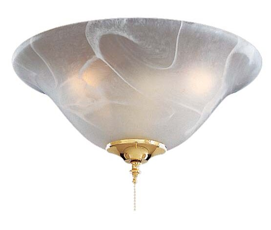 Universal 3-Light Bowl Ceiling Fan Light Kit by Minka Aire