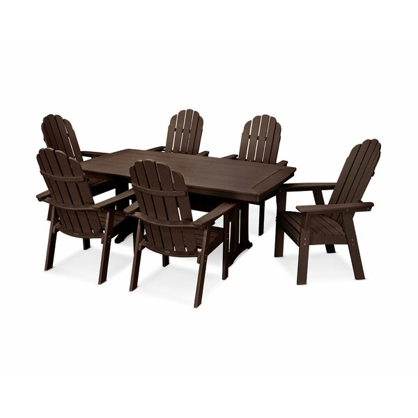 Vineyard Adirondack Nautical Trestle 7 Piece Dining Set by POLYWOOD®