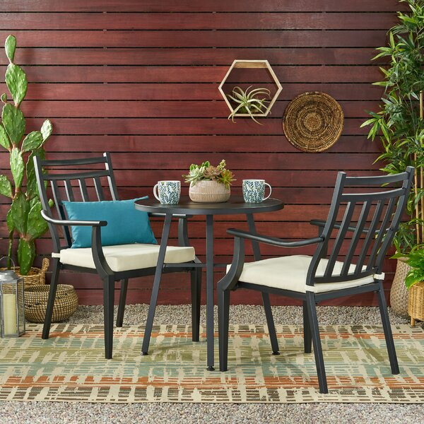 Johnstown 3 Piece Bistro Set with Cushions