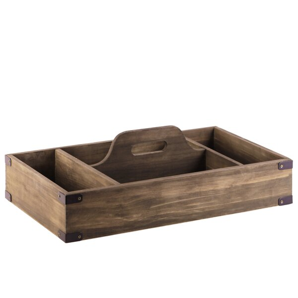 Delaine Wood 4 Slot Accent Tray by Gracie Oaks