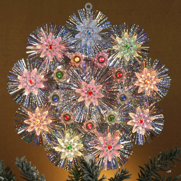 Retro Tinsel Snowflake Christmas Tree Topper by The Holiday Aisle