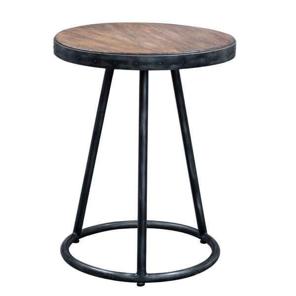 Aaru Round End Table by Williston Forge