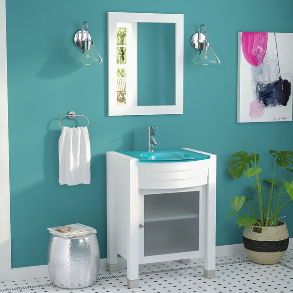 Blakes 24 Single Bathroom Vanity Set with Mirror by Brayden Studio