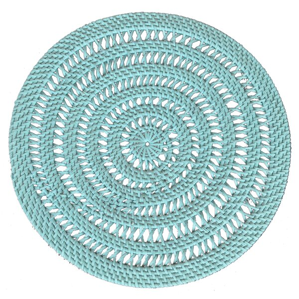 Oldsmar Coast Rattan Placemat by Rosecliff Heights