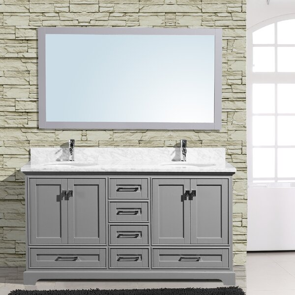 Frieda 60 Double Bathroom Vanity with Mirror by Gracie Oaks