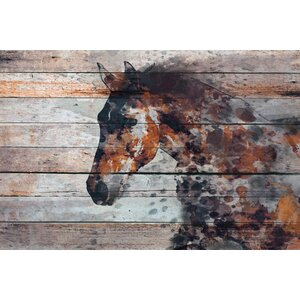 'Fire Horse' Print on Canvas by Marmont Hill