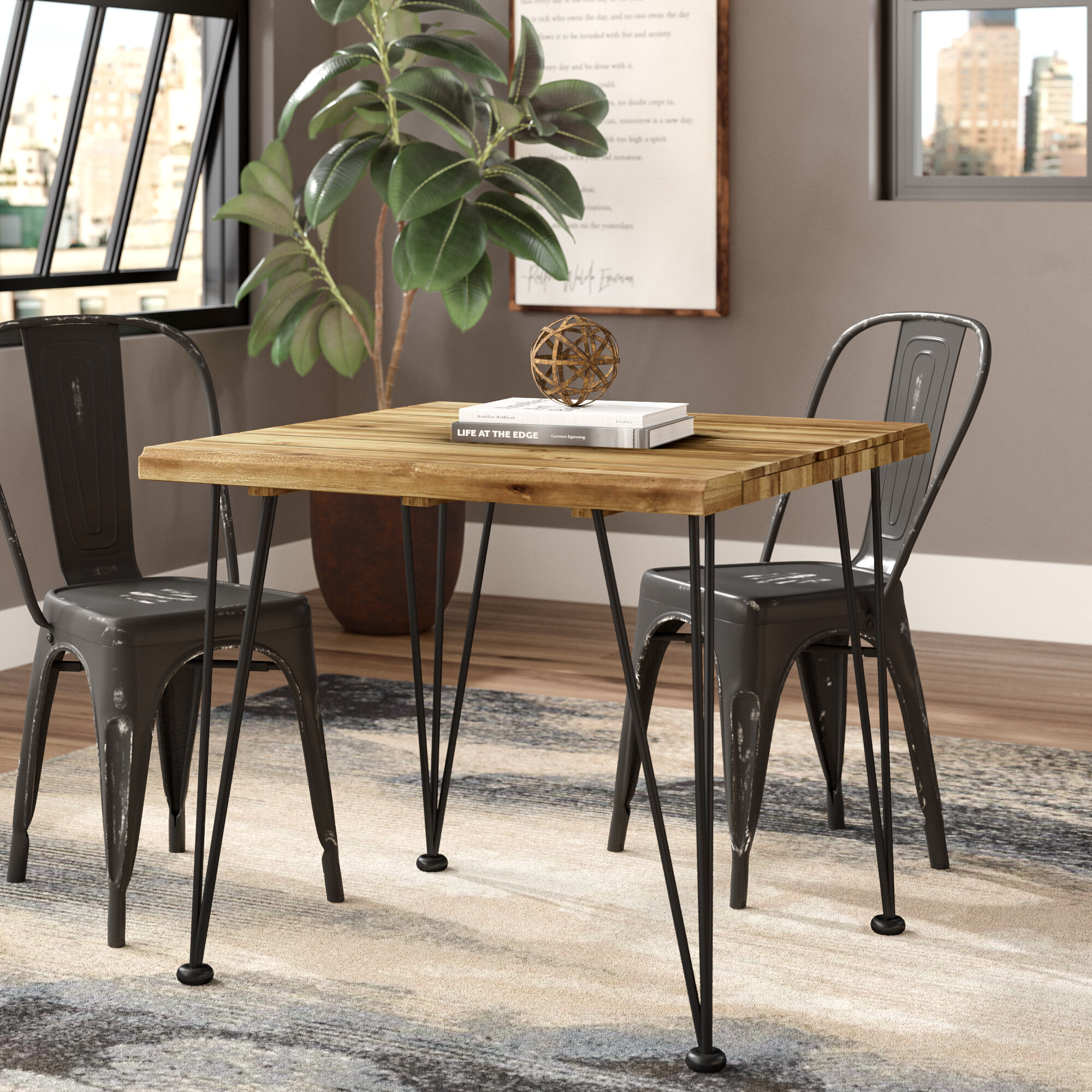 the best attitude ab76a efa03 Tindley Indoor Acacia Wood Dining Table