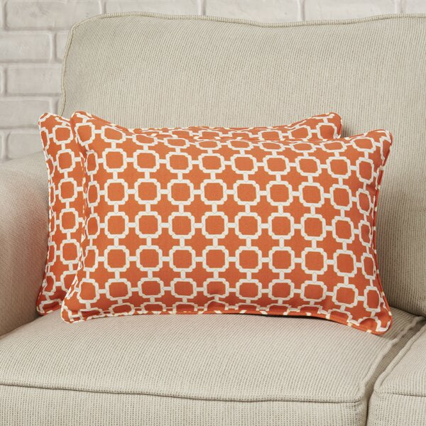Tessa Corded Lumbar Pillow (Set of 2) by Mercury Row